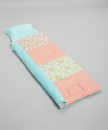 Look what I found on #zulily! Blue Sweet Peach Personalized Quilted Nap Mat by Janiebee #zulilyfinds