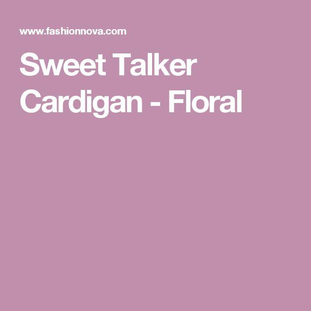 Sweet Talker Cardigan - Floral