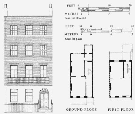 17 best images about arch drawings prints on pinterest for Typical brownstone floor plan