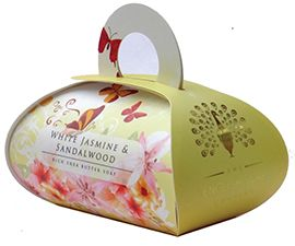White Jasmine & Sandalwood Large Bath Soap - cute box
