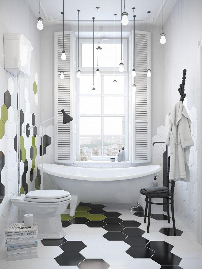 скандинавский дизайн в интерьере ванной комнаты