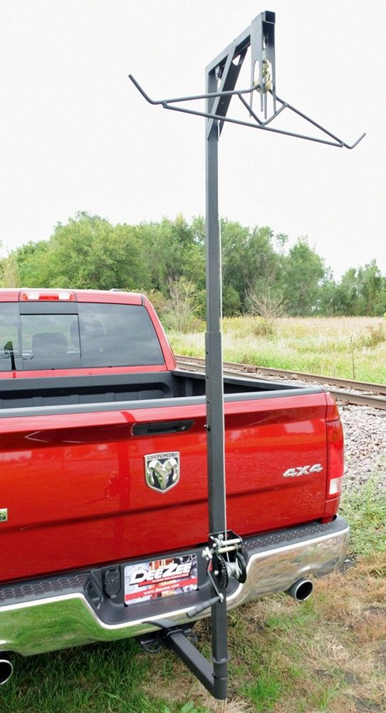 This DeeZee Hitch Mounted Deer Hanger is a perfect, unique gift for this upcoming Father's Day. Great for dads that love efficient hunting. Steel cable and hanger safely hoist game up to 300lbs.