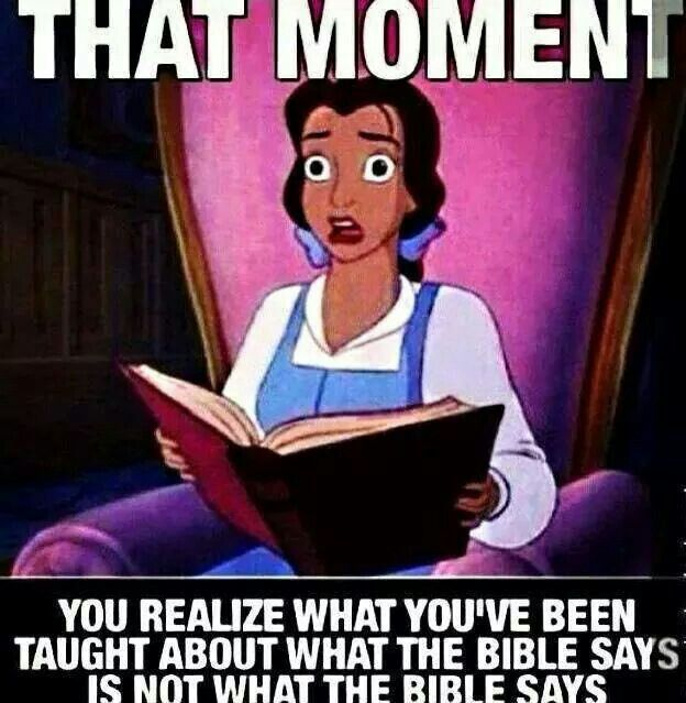 """Don't be lazy and expect someone in the pulpit to """"understand"""" what the Bible says FOR you. Study. Listen. Are you being taught doctrine instead of truth? Let scripture prove scripture--that's why God gave it to us in the first place."""
