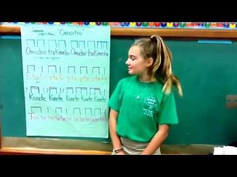 Saint Stephen's Episcopal School 5th Grade tutorial for 'Omochio' partner clapping game - YouTube