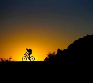 Nothing like cycling at dawn in the wilds of Africa