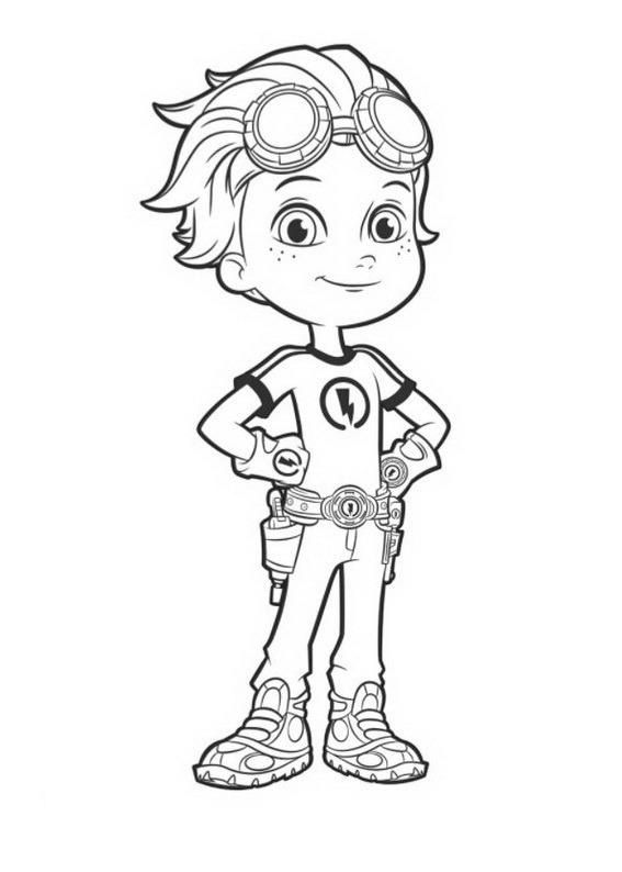 16 best rusty rivets birthday party images on pinterest for Rusty rivets coloring pages