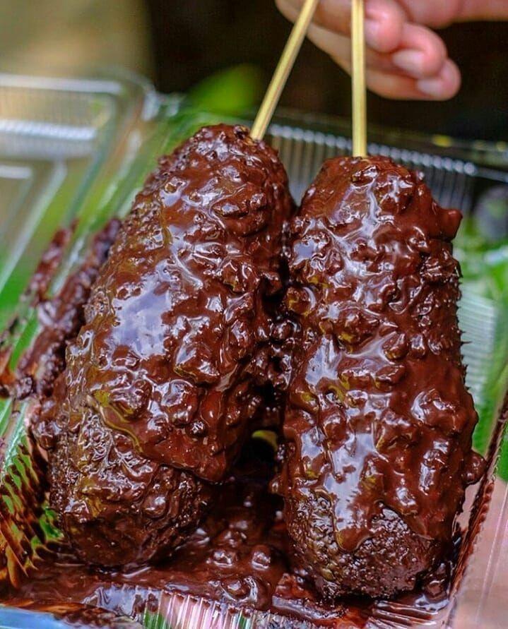 Pisang Lumer Coklat Keju Ide Makanan Makanan Dan Minuman Pisang