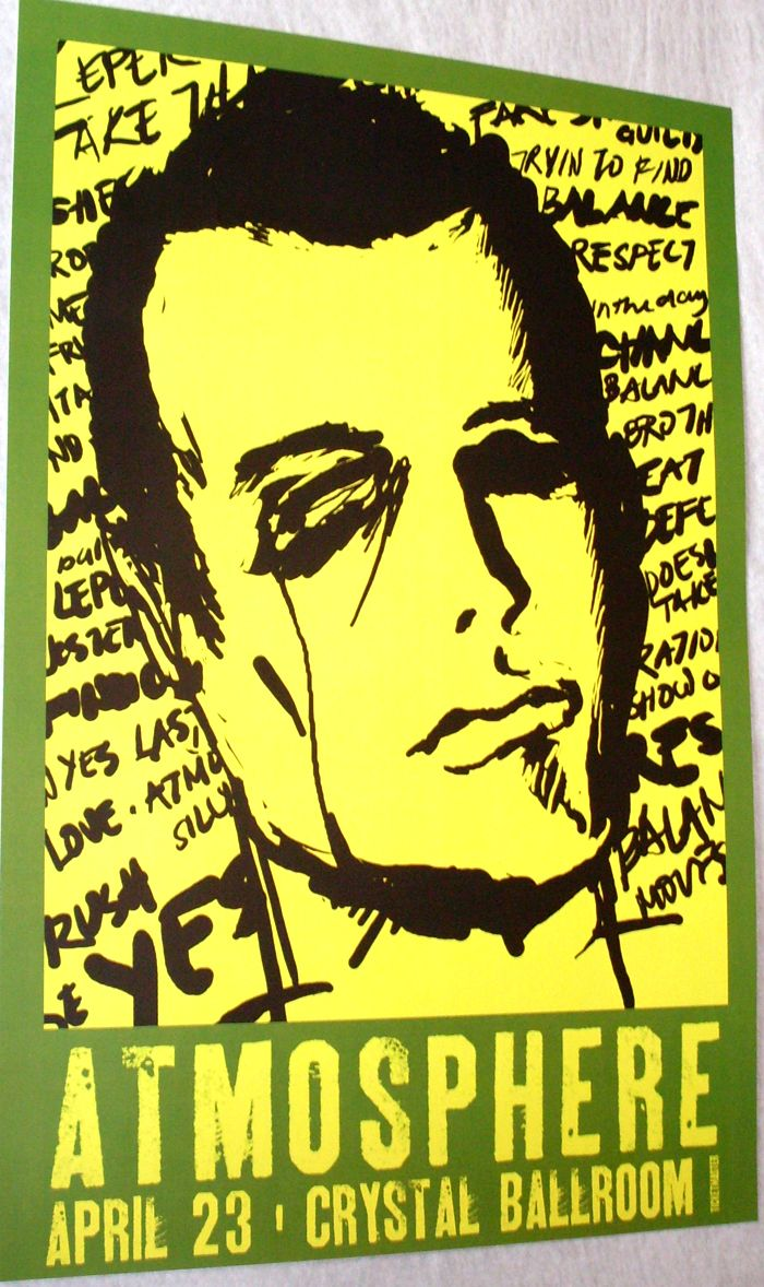 Atmosphere at the Crystal Ballroom - Was a great show. poster for sale here. #Atmosphere #Slug #Ant