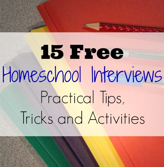 15 Free Homeschool Interviews, with tips, tricks, and activities to make your homeschool life easier.