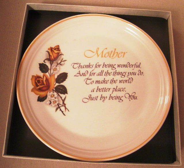 Mother gift - lovely ornamental plate