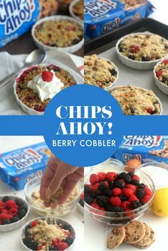 The CHIPS AHOY! Berry Cobbler includes cookies, flour, and butter! This is simple to make for an easy back-to-school dessert. [Sp]