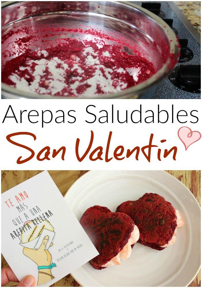 Como preparar Arepas saludables de remolacha, ajoporro, pimentón y linaza para celebrar el Día de San Valentin. Video con el paso a paso.