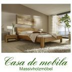Massivholz Doppelbett 200x200 Holzbett Bett Eiche massiv geölt
