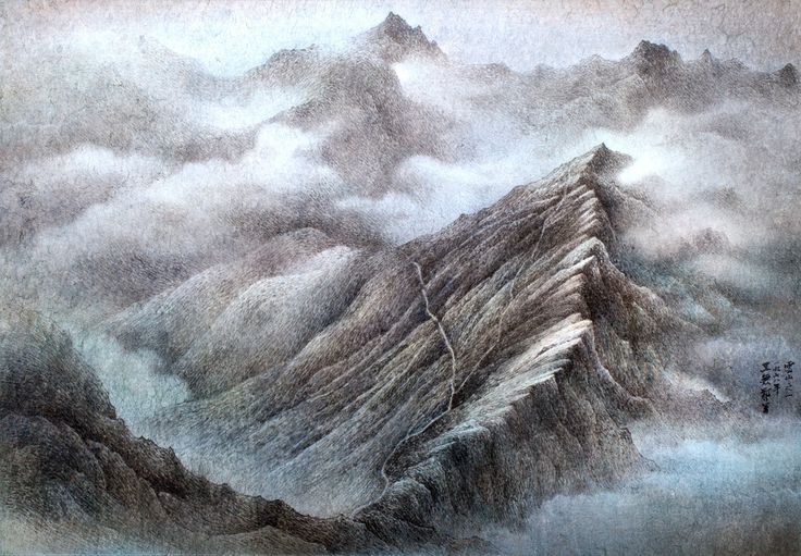 王無邪 Wucius Wong 雲山之一 Cloudy mountains 58x83.5cm 設色紙本 ink and color on paper  #art #gallery #ink #contemporary #hongkong #painting #artwork #inkart #hongkongartgallery #chineseart #asian #asianart #nature #exhibition #artist #modern #artwork #passion #contemporaryart #drawing #drawings #artgallery #nature #mountain #mountains #cloudy #view #wuciuswong