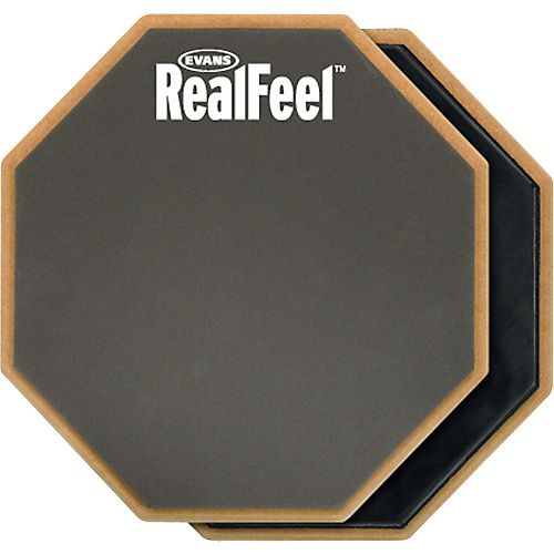 HQ Percussion RealFeel 2-Sided Speed and Workout Drum Pad Gray 6 in.