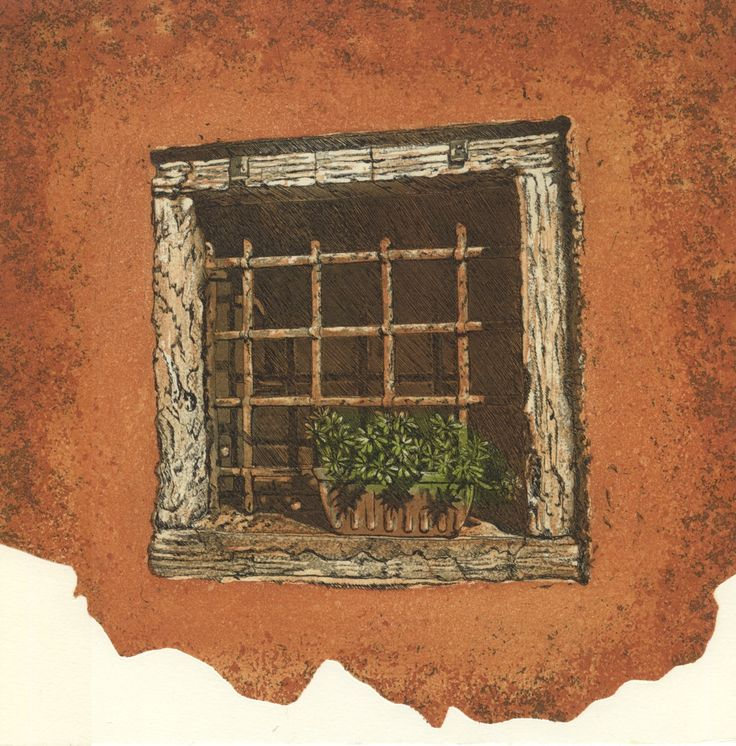 Scuola Window etching Artist Sandi Rigby