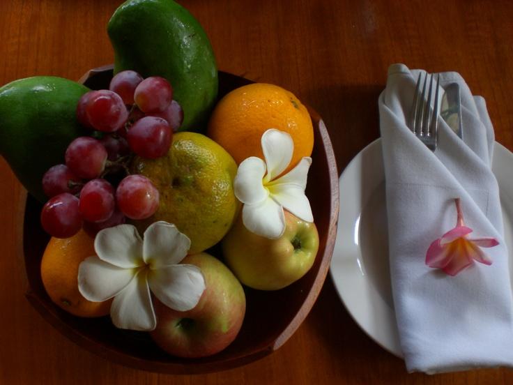 Great food, great service at lakshmi Villas Bali