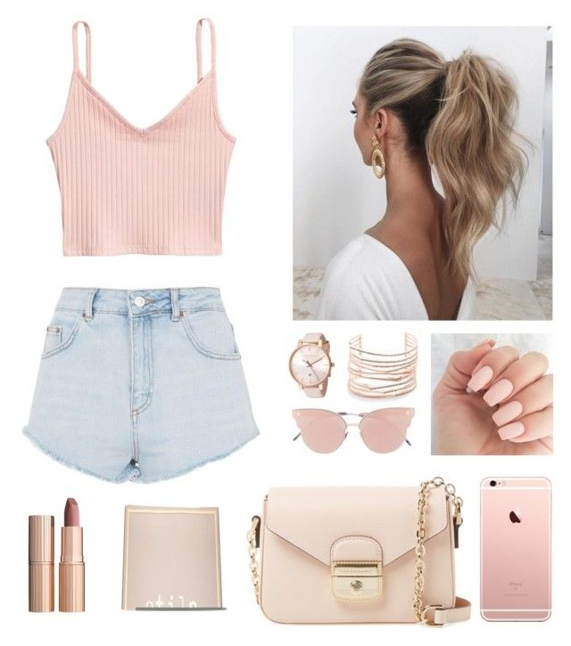 """Untitled #5"" by hannaklar on Polyvore featuring Topshop, Ted Baker, Alexis Bittar, Love Couture, So.Ya, Longchamp, Charlotte Tilbury and Stila"