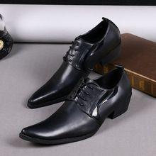 New Italian Formal Men Dress Shoes Lace-Up Oxford Shoes For Men Genuine Leather Pointed Toe Men Wedding Shoes Black Plus Size //FREE Shipping Worldwide //
