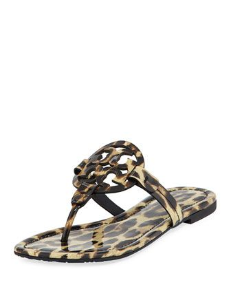 Miller Printed Flat Thong Sandal, Leopard by Tory Burch at Neiman Marcus.