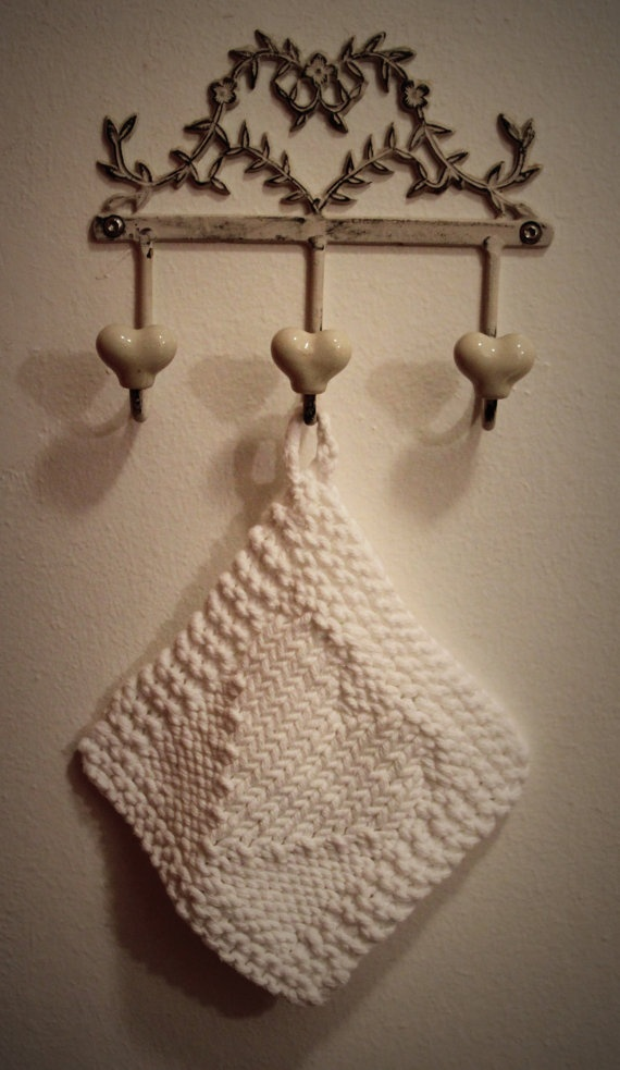 Valentine gift Wash cloth face cloth hand knit cotton by aggaphoto, $5.00