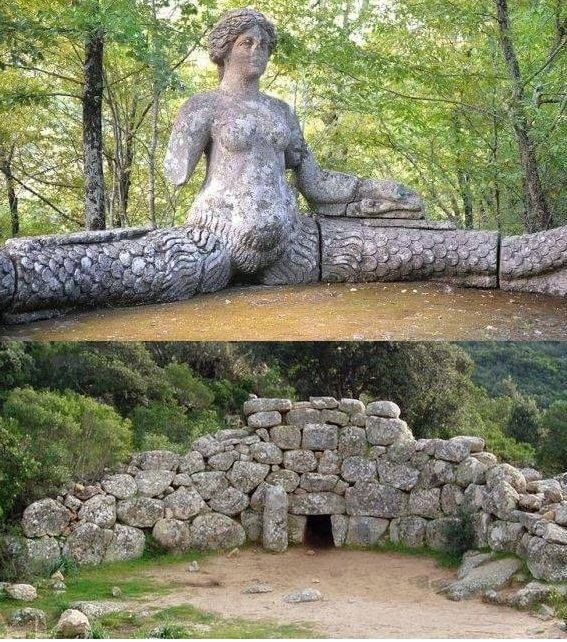 Convergence... Compare (from a post of Melqart King on journey in antiquity of sardinia). The monument in the image above is located within the park of bomarzo in umbria, while the tomb of the giants of the photo below is that of is concias to quartucciu via Nurnet-La Rete Dei Nuraghi FB