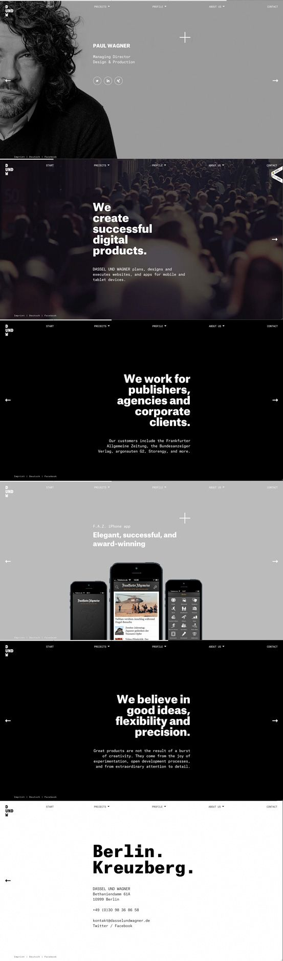 Designer: Dassel and Wagner | #webdesign #it #web #design #layout #userinterface #website #webdesign < repinned by www.BlickeDeeler.de | Take a look at www.WebsiteDesign-Hamburg.de