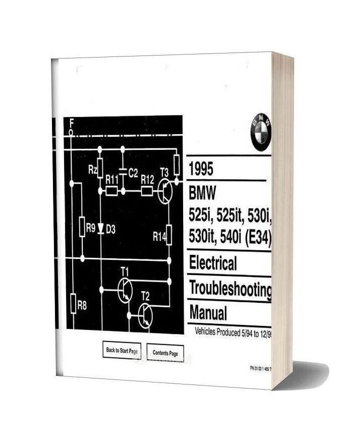 Bmw 525i 525it 530i 530it 540i 1995 Electrical Troubleshooting Manual In 2020 Electrical Troubleshooting Bmw 318i Bmw
