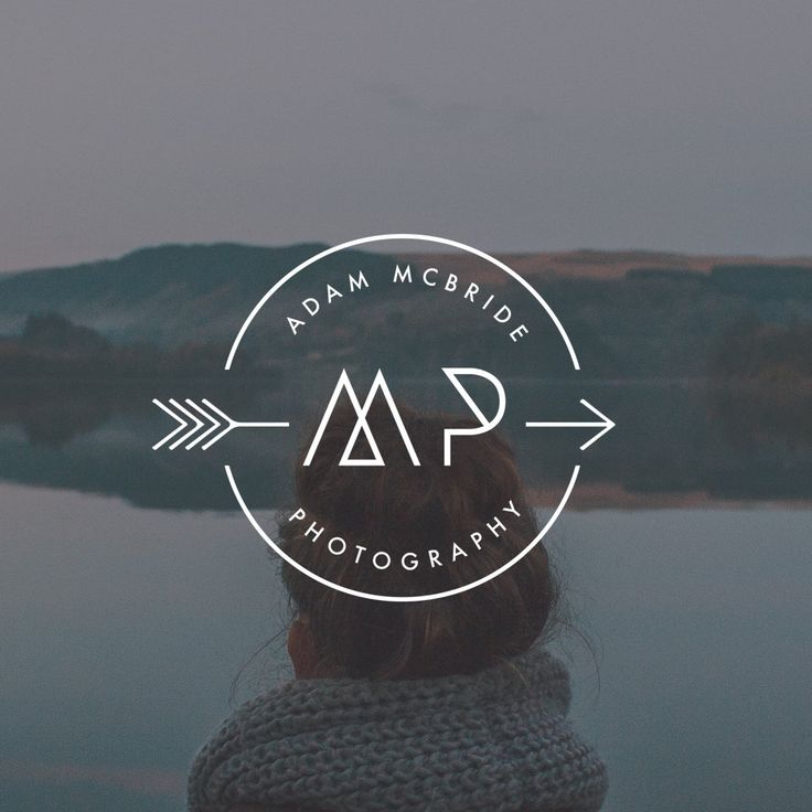 Manly Logo Design. Outdoors Logo. Hipster Logo. Arrow Logo. Rugged Logo. Masculine Logo. Photography Logo. Mens Logo. Badge Logo