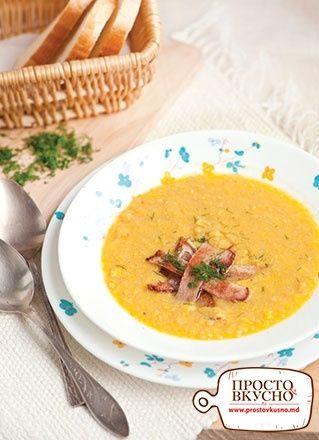 Просто&Вкусно - Супы - Кукурузный крем-суп с беконом