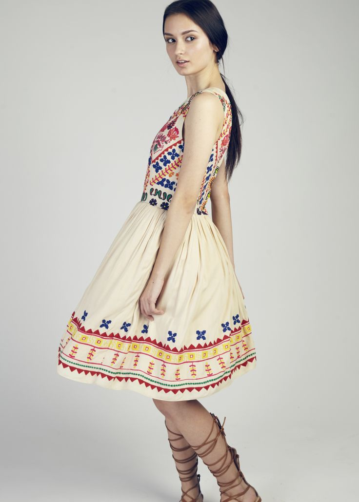 The Baby Doll Embroidered Dress by Hemant & Nandita