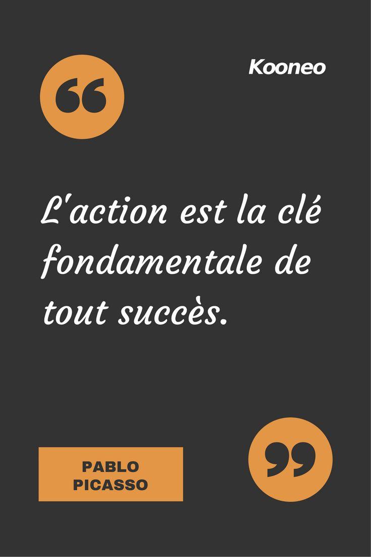[CITATIONS] L'action est la clé fondamentale de tout succès. PABLO PICASSO #Ecommerce #Motivation #Kooneo #Succes : www.kooneo.com