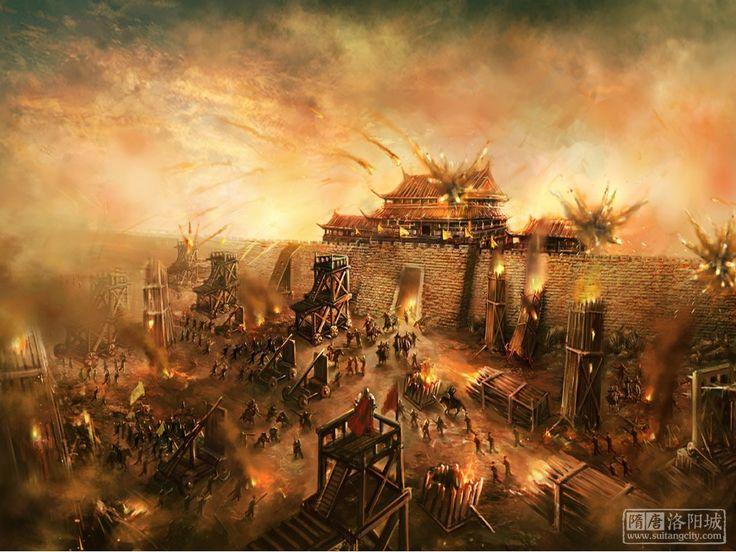 An Lu-Shan besieging Chang An, An-Shi Rebellion, China