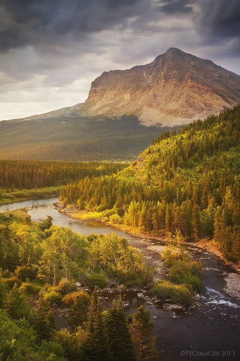 Glacier National Park- Montana, USA Light Through the Valley by PeterJCoskun