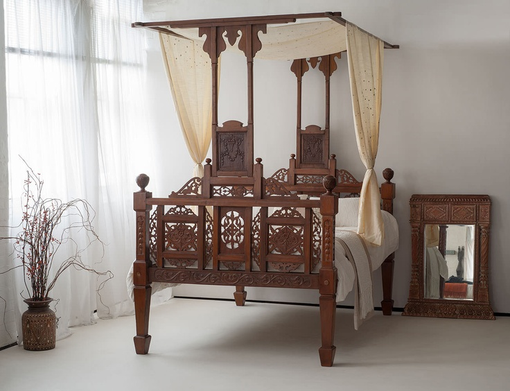 Charmant The Unique Goa Four Poster Bed Imported From India By Natural Bed Company.  See