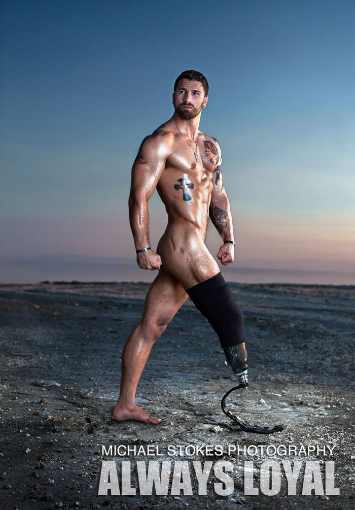 Sexy Wounded War Veterans Show They're Confident Enough To Be Hot Calendar Models. Michael Stokes.