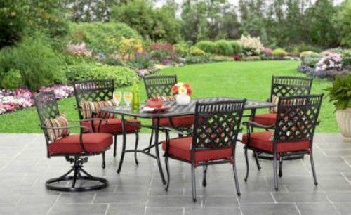 Outdoor Dining Set 7Pc Aluminium Patio Furniture Clearence Terrace Yard Pool Set #SmartDealsMarket