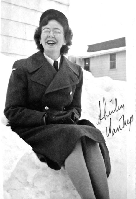 Shirley Van Nuys, member of the RCAF Women's Division, at RCAF Centralia, Ontario, probably in 1943 or 1944. For more: www.elinorflorence.com/blog/rcaf-women-photographer