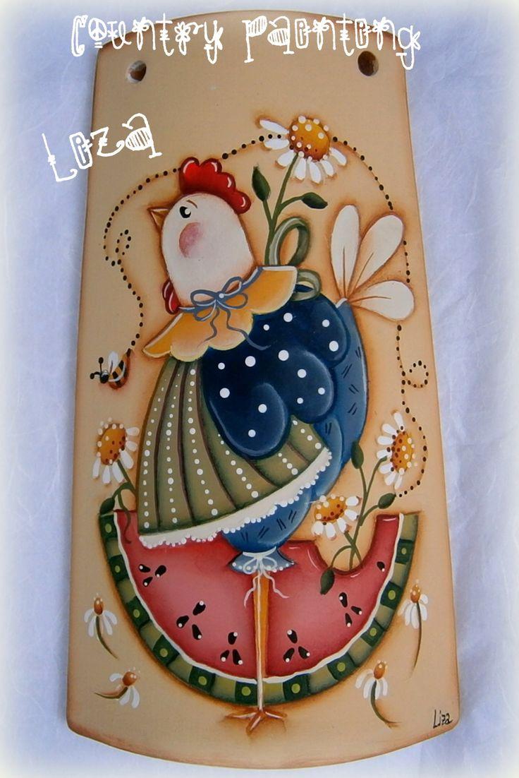 Nuovo coppo ...una simpatica gallinella.  Renee Mullins Design .