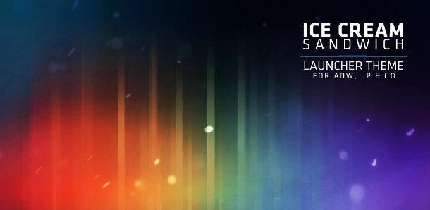 Tema Android Ice Cream Sandwich per GO Launcher Ex e ADW Launcher + sfondi