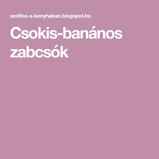 Csokis-banános zabcsók