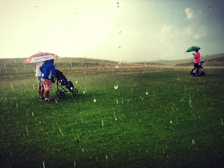 Rainy golf course