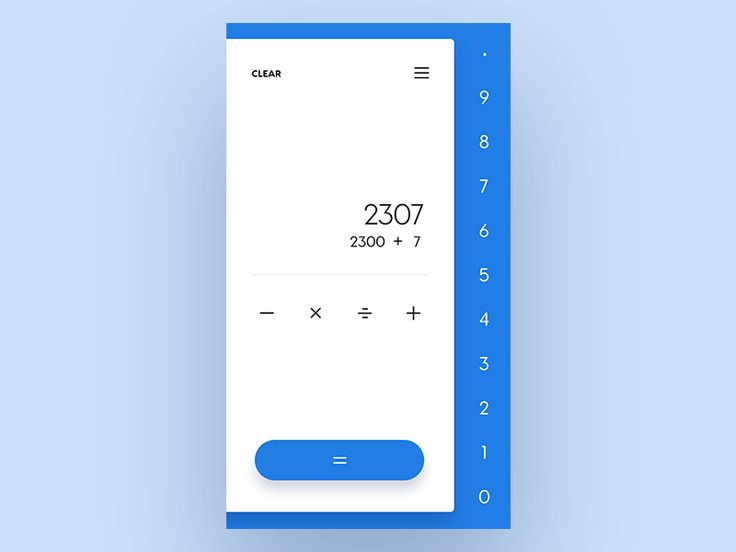 Calculator - Daily UI - Day 4 by Malik Kimbrel