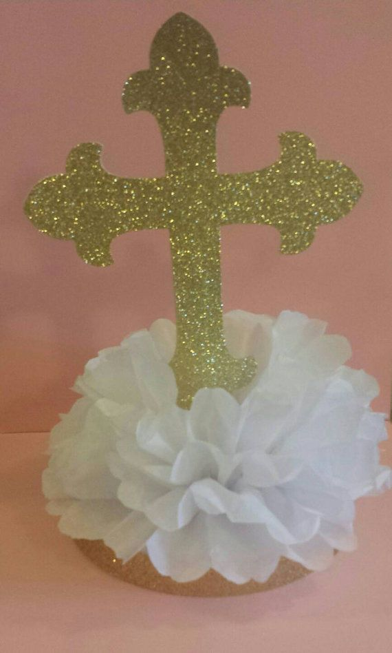 Baptism Confetti 50 Piece Cross Confetti Religious Party Decor Baptism Decorations Cross Table Confetti Communion Confetti