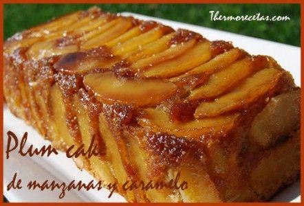 Plum Cake de Manzanas y Caramelo (Thermomix)