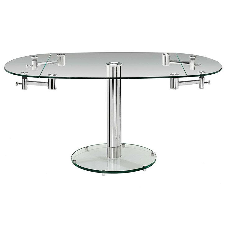 Add The Marina Oval Extension Dining Table To Your Dining Space To Give The  Room A Contemporary Look. This Modern Dining Table Features A Clear Glass  Top ...