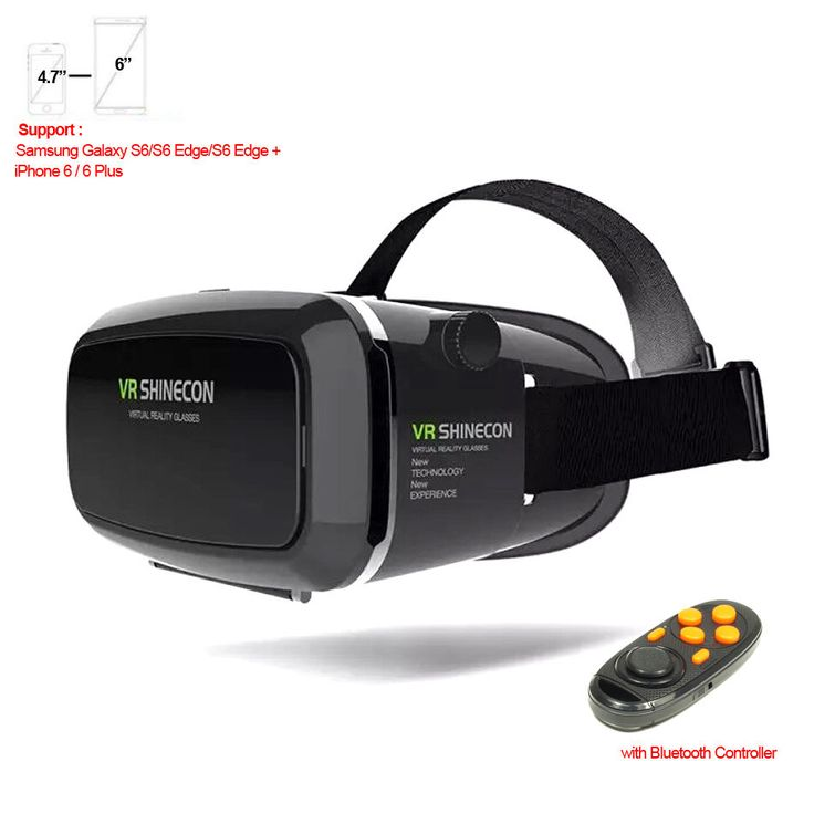 "VR Shinecon Virtual Reality 3D Movie Game Glasses For iPhone Samsung 4.7"" ~ 6"" #UnbrandedGeneric"