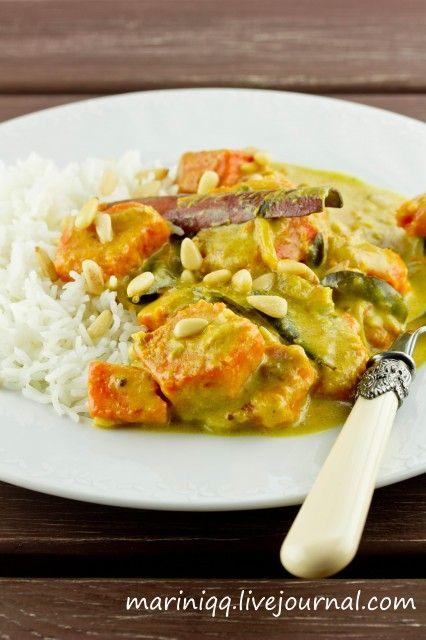 Карри из тыквы. Kürbis curry.