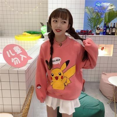 """Pika Pika"" Pikachu Print Sweater – OhMyKawaiiShop.com"