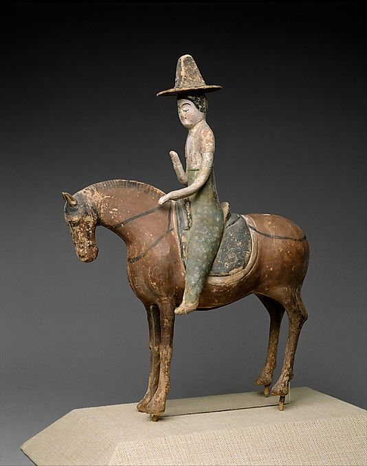 Horse and Female Rider, Tang Dynasty, China (7th c)